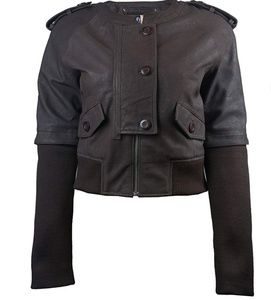 Jackets & Blazers - Plus size Leather Bomber Jacket
